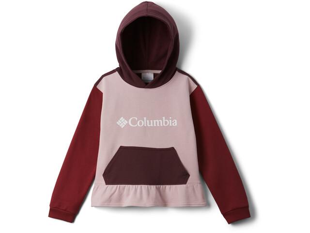 Columbia Columbia Park Felpa Ragazza, rosa/rosso